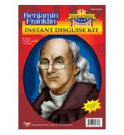Benjamin Franklin Costume Disguise Kit Heroes History